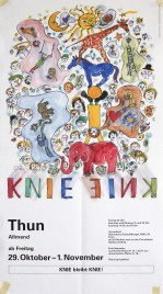 Circus Knie Circus poster - Switzerland, 1993
