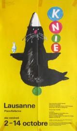 Circus Knie Circus poster - Switzerland, 1981