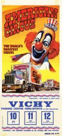 American Circus Circus poster - Italy, 1983