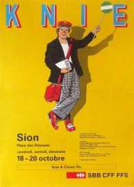 Circus Knie Circus poster - Switzerland, 1991