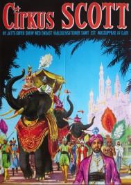 Cirkus Scott Circus poster - Sweden, 0