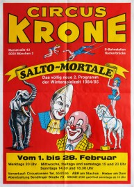 Circus Krone Circus poster - Germany, 1984