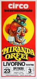 Circo Miranda Orfei Circus poster - Italy, 1982