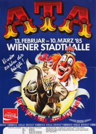 Artisten-Tiere-Attraktionen 85 Circus poster - Austria, 1985