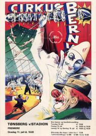 Cirkus Berny Circus poster - Norway, 1984