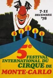5e Festival International du Cirque de Monte-Carlo Circus poster - Monaco, 1978