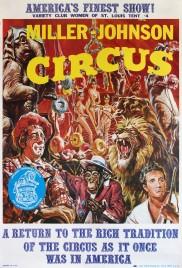 Miller-Johnson Circus Circus poster - USA, 1974