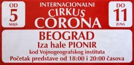 Internacionalni Cirkus Corona Circus poster - Serbia, 2017