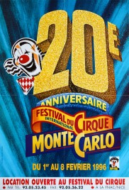 20e Festival International du Cirque de Monte-Carlo Circus poster - Monaco, 1996