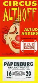 Circus Althoff Circus poster - Netherlands, 2002