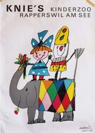 KNIEs Kinderzoo Circus poster - Switzerland, 1964
