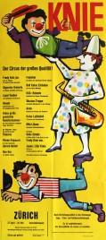 Circus Knie Circus poster - Switzerland, 1962