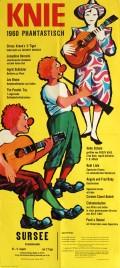 Circus Knie Circus poster - Switzerland, 1960