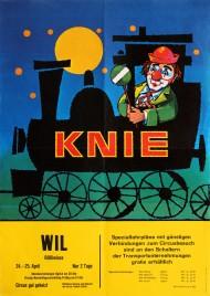 Circus Knie Circus poster - Switzerland, 1969