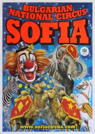 Bulgarian National Circus Sofia Circus poster - Bulgaria, 2014