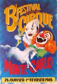 13e Festival International du Cirque de Monte-Carlo Circus poster - Monaco, 1988