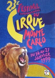 23e Festival International du Cirque de Monte-Carlo Circus poster - Monaco, 1999