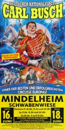 Circus Carl Busch Circus poster - Germany, 2017