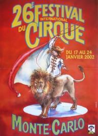 26e Festival International du Cirque de Monte-Carlo Circus poster - Monaco, 2002