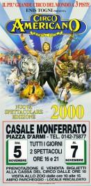 Circo Americano Circus poster - Italy, 1999