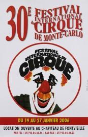 30e Festival International du Cirque de Monte-Carlo Circus poster - Monaco, 2006