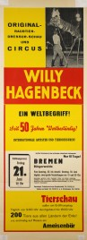 Circus Willy Hagenbeck Circus poster - Germany, 1963