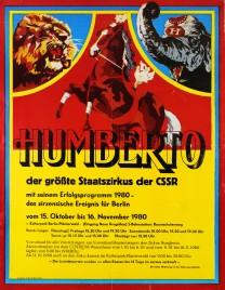 Cirkus Humberto Circus poster - Czech Republic, 1980