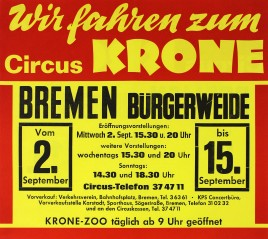 Circus Krone Circus poster - Germany, 1981