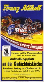 Circus Franz Althoff Circus poster - Germany, 1961