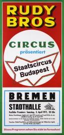 Rudy Bros Circus Circus poster - Germany, 1971