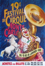 19e Festival International du Cirque de Monte-Carlo Circus poster - Monaco, 1995