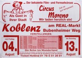 Circus Moreno Circus poster - Germany, 2006