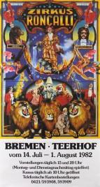 Zirkus Roncalli Circus poster - Germany, 1982