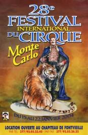 28e Festival International du Cirque de Monte-Carlo Circus poster - Monaco, 2004