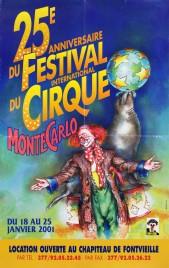 25e Festival International du Cirque de Monte-Carlo Circus poster - Monaco, 2001