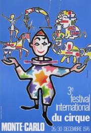 3e Festival International du Cirque de Monte-Carlo Circus poster - Monaco, 1976