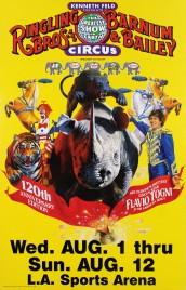 Ringling Bros. and Barnum & Bailey Circus Circus poster - USA, 1990
