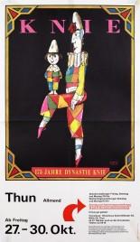 Circus Knie Circus poster - Switzerland, 1978
