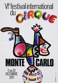 6e Festival International du Cirque de Monte-Carlo Circus poster - Monaco, 1979