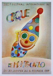 21e Festival International du Cirque de Monte-Carlo Circus poster - Monaco, 1997