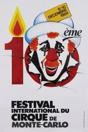 10ème Festival International du Cirque de Monte-Carlo Circus poster - Monaco, 1984
