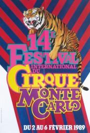 14e Festival International du Cirque de Monte-Carlo Circus poster - Monaco, 1989