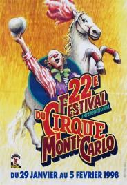 22e Festival International du Cirque de Monte-Carlo Circus poster - Monaco, 1998