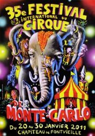 35e Festival International du Cirque de Monte-Carlo Circus poster - Monaco, 2011