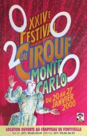 24e Festival International du Cirque de Monte-Carlo Circus poster - Monaco, 2000