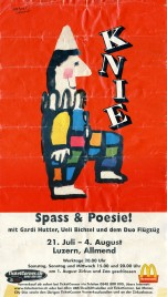 Circus Knie Circus poster - Switzerland, 2000