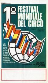 1 Festival Mondiale del Circo Circus poster - Italy, 1966