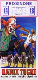 Circo Darix Togni Circus poster - Italy, 1976