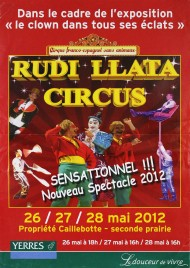 Rudi Llata Circus Circus poster - France, 2012
