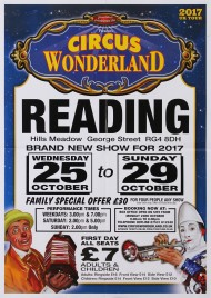 Circus Wonderland Circus poster - England, 2017